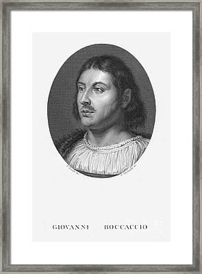 Giovanni Boccaccio Framed Print by Granger
