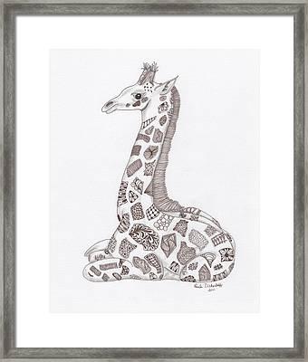 Giraffe Framed Print by Paula Dickerhoff