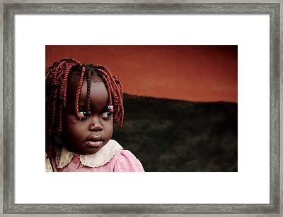 Girl At A Refugee Camp, Uganda Framed Print by Mauro Fermariello