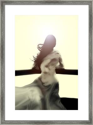 Girl In White Dress Framed Print by Joana Kruse