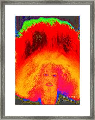 Girl Tossing Her Red Hair 1 Framed Print by Warren Sarle
