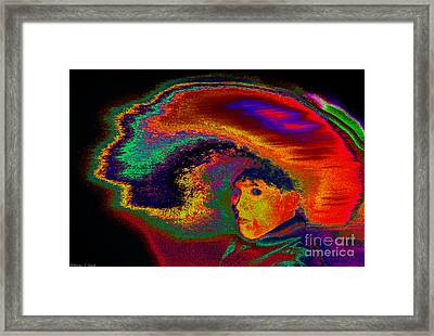 Girl Tossing Her Red Hair 2 Framed Print by Warren Sarle
