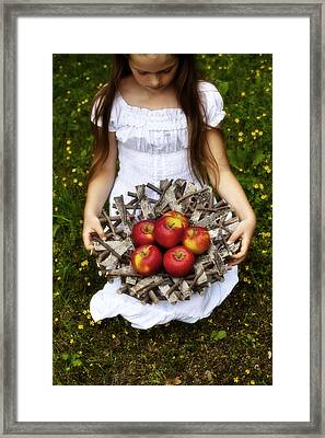 Girl With Apples Framed Print by Joana Kruse