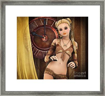 Girlie Framed Print by Jutta Maria Pusl
