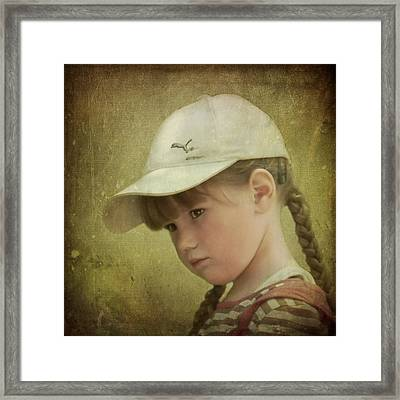 Girls Don't Cry Framed Print by Evelina Kremsdorf