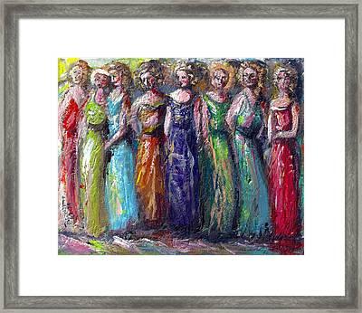Girls Night Out Framed Print by Bernadette Krupa