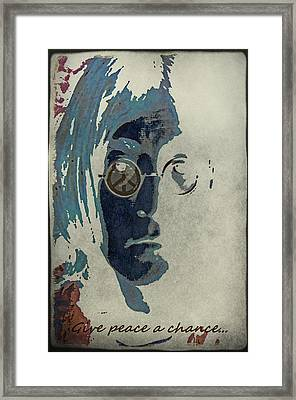 Give Peace A Chance... Framed Print by Marie  Gale