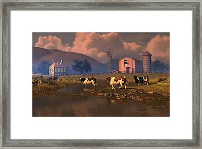 Give Us This Day Framed Print by Dieter Carlton