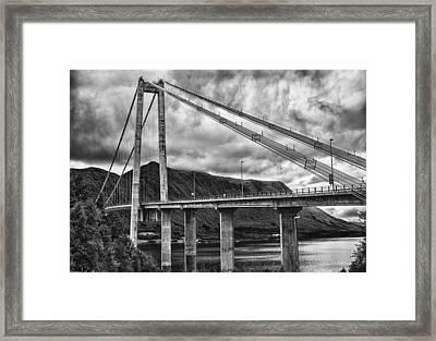 Gjemnessund Bridge Framed Print by A A