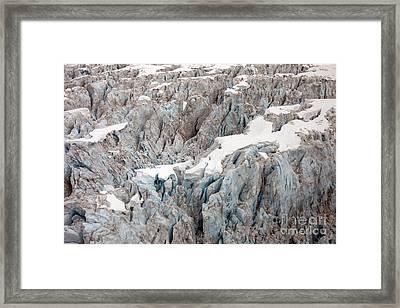 Glacial Crevasses Framed Print by Mike Reid