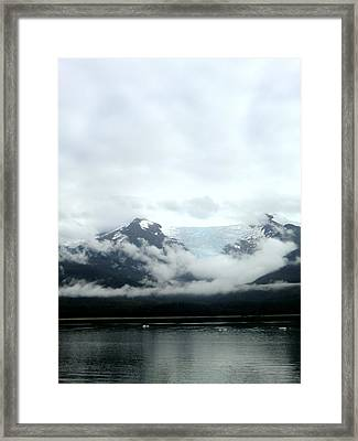 Glacier Mountain Framed Print by Mindy Newman