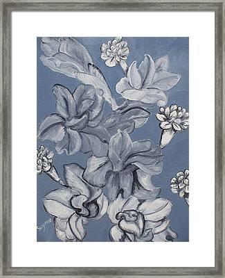 Gladiolas And Carnations Framed Print by Suzanne Buckland