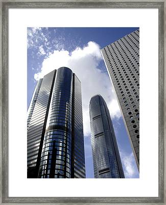 Hong Kong Framed Print featuring the photograph Glass Forest by Roberto Alamino