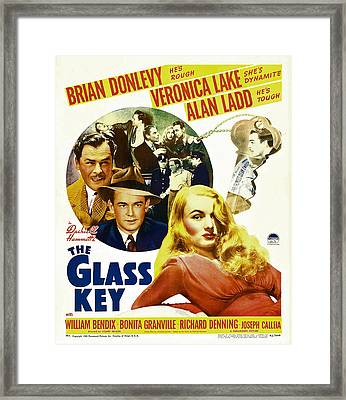 Glass Key, The, Brian Donlevy, Alan Framed Print by Everett