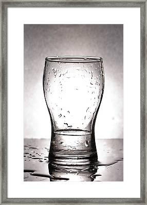 Glass With Water  Framed Print by Chatchawin Jampapha