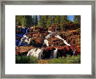Glen Alpine Falls Framed Print by Scott McGuire