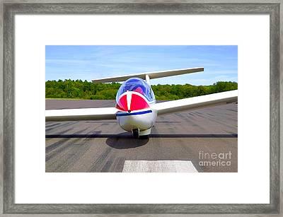 Glider On A Runway Framed Print by Richard Thomas