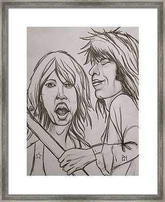 Glimmer Twins Framed Print by Pete Maier