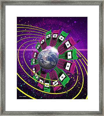 Global Communication Framed Print by Victor Habbick Visions