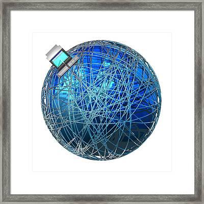 Global Communications, Conceptual Artwork Framed Print by Laguna Design