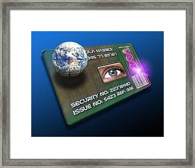Global Id Card Framed Print by Victor Habbick Visions