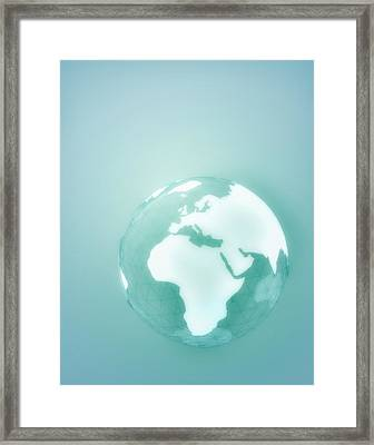 Globe Of Africa Europe And The Middle East Framed Print by Jason Reed