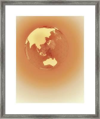 Globe Of Eastern Hemisphere Framed Print by Jason Reed