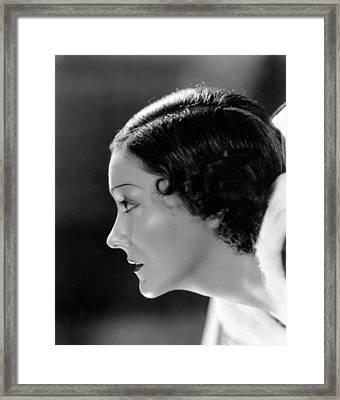 Gloria Swanson, C. 1934. Photo Framed Print by Everett