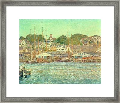 Gloucester Harbor Framed Print by Childe Hassam