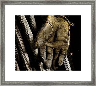 Gloves Framed Print by Wilma  Birdwell