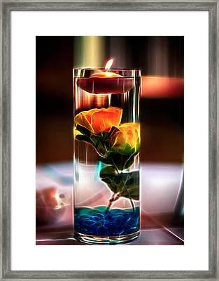 Glowing Centerpiece Framed Print by Bill Tiepelman