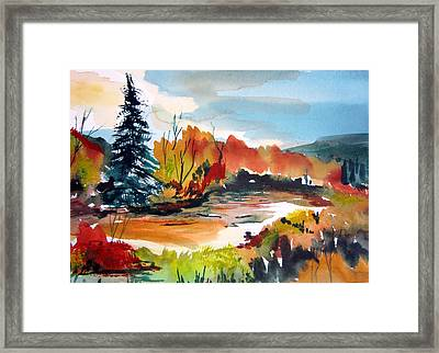 Glowing In Autumn Framed Print by Mindy Newman
