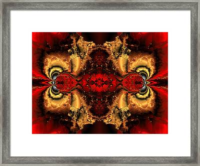 Glowing Red Vision Framed Print by Claude McCoy