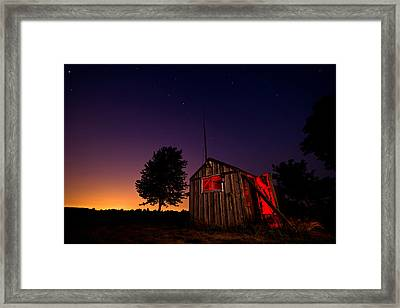 Glowing Shed Framed Print by Cale Best