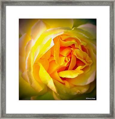 Glowing Framed Print by Sherry  Kepp
