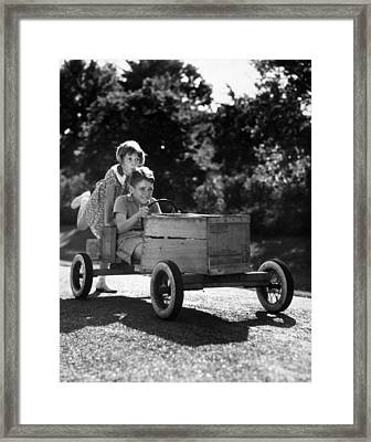 Go-carting Framed Print by Archive Photos