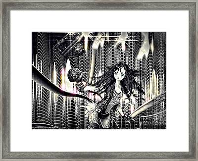 Go Dance Framed Print by Mo T