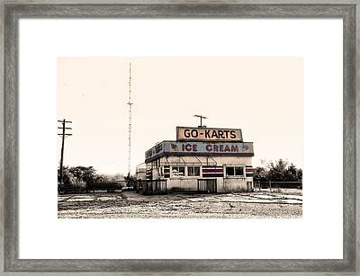 Go-karts - Wildwood New Jersey Framed Print by Bill Cannon