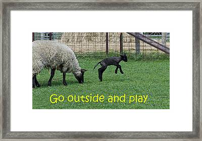Go Outside And Play Framed Print by LeeAnn McLaneGoetz McLaneGoetzStudioLLCcom