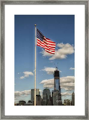 God Bless America Framed Print by Leslie Leda