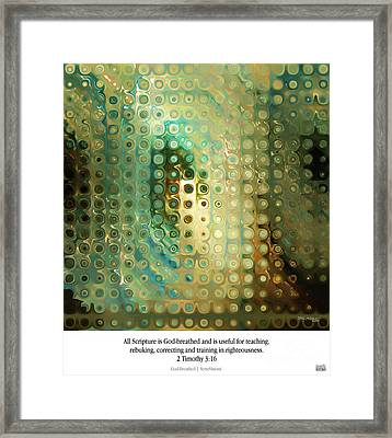 God-breathed. Christian Poster Framed Print by Mark Lawrence