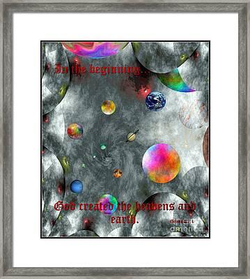 God Created Framed Print by Glenn McCarthy Art and Photography