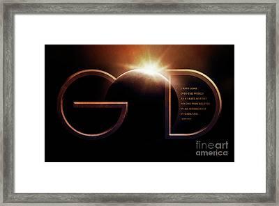 God Is Light Framed Print by Shevon Johnson