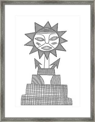 God Of Sun Framed Print by Michal Boubin
