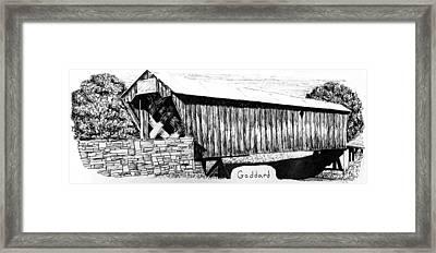 Goddard Covered Bridge Framed Print by Kyle Gray