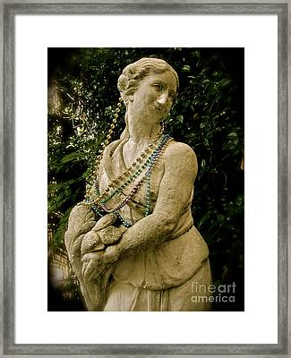 Goddess Of The Bayou Framed Print by Laura Brightwood