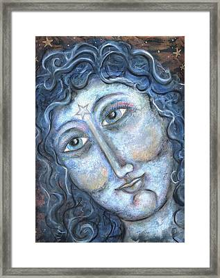 Goddess Of The Northern Star Framed Print by Suzan  Sommers