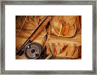 Goin Fishin Framed Print by Skip Willits