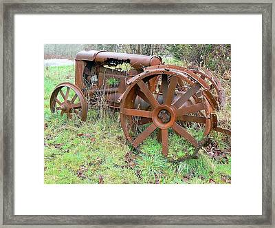 Going Green With Fordson  Framed Print by Pamela Patch