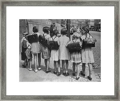 Going Home After School Framed Print by Fpg